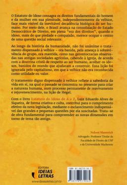 Estatuto do Idoso de A A Z - Zamboni Books - Livraria e ... d7539d237bb34